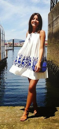 Ethereal Relaxed Embroidered White Dress