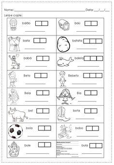 Atividades de alfabetização : atividades com ba be bi bo bu