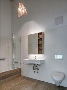 wild bär heule architekten ag Bathroom Lighting, Bathtub, Mirror, Interior, Furniture, Bathrooms, Home Decor, Ground Floor, Dark Wood Trim