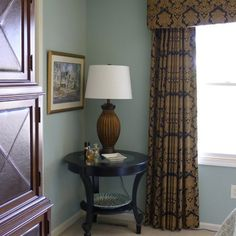 traditional masculine bedroom | ... and caramel drapes makes this bedroom both masculine and feminine