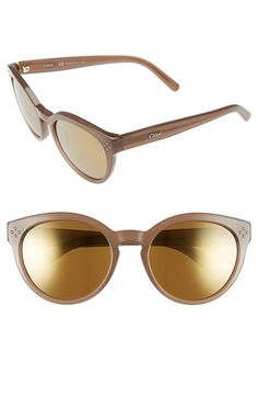 Chloé 'Boxwood' 54mm Round Sunglasses available at #Nordstrom