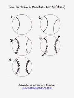How to Draw a baseball or softball
