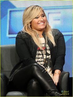 Demi Lovato: 'X Factor' Panel at TCA Tour 2013 | demi lovato tca fox tour 01 - Photo
