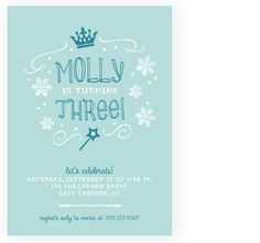 Dillan's adorable Frozen party invites! By Two Pooch Paperie LLC
