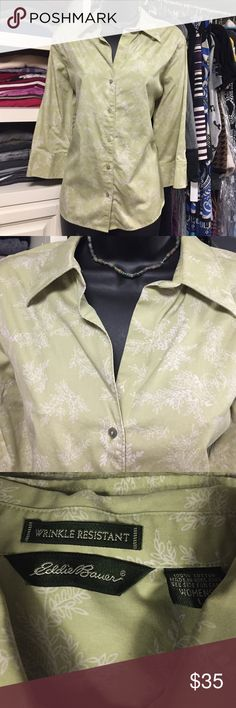 Eddie Bauer Wrinkle Resistant Button Down Soft fabric, super comfortable.  Worn a few times and then I sadly outgrew it. BN201 Eddie Bauer Tops Button Down Shirts