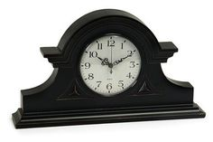 Grand and Alluring Black Mantel Clock