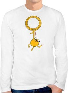 Adventure Time - Jake Kendin Tasarla - Erkek Bisiklet Yaka Tişört Uzun Kollu