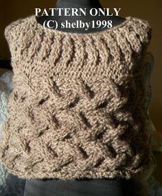 Knitting Pattern PDF Covington Capelet Poncho #pattern