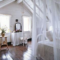 Love the floors against the white..just lovely!