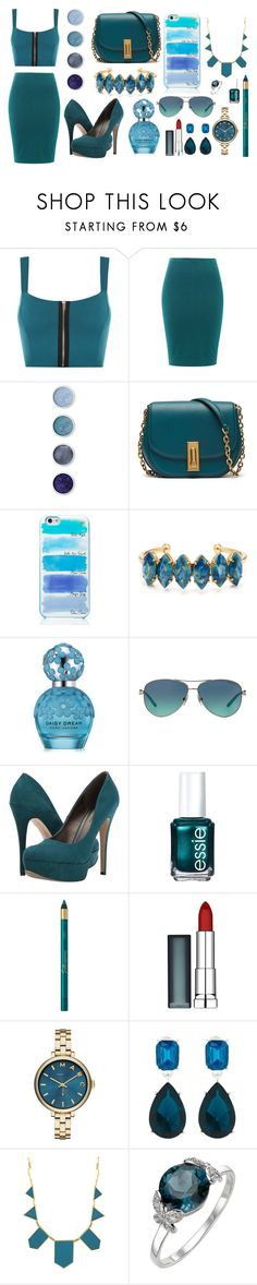"""""""Navy Blue Loving"""" by lauren53103 on Polyvore featuring WearAll, Terre Mère, Kate Spade, Elizabeth Cole, Marc Jacobs, Tiffany & Co., Michael Antonio, Essie, Maybelline and Marc by Marc Jacobs"""