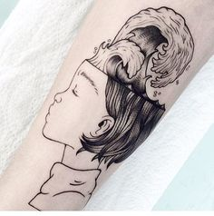 illustration by Elliana Esquivel (@elesq), tattoo by @victor.gracias