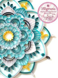 Filigree - Quilling in Chile: 2016 - Quilling Ideas Quilling Butterfly, Paper Quilling Flowers, Quilling Work, Origami And Quilling, Paper Quilling Patterns, Quilled Paper Art, Quilling Paper Craft, Neli Quilling, Paper Crafts