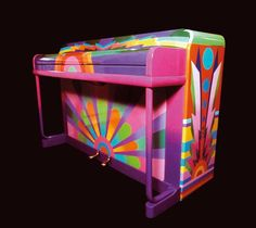 Paul McCartney wrote Sgt. Pepper on this groovy piano. Read about 1960's rock'n'roll psychedelic artists here - http://www.collectorsweekly.com/articles/the-sources-of-psychedelic-art/