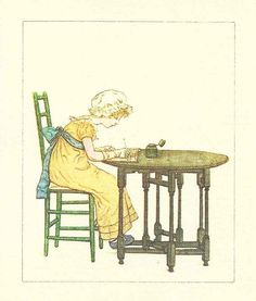 Kate Greenaway Greeting Card by Gallery Five by KatieGreenVintage