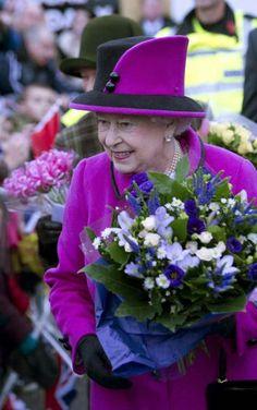 10/31/13 Queen Elizabeth visits New Haven in East Sussex England.