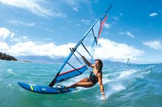 This shot says it all! Maria Andres at Kanaha Beach Park. Photo Erik Aeder #windsurfing