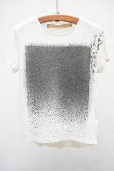 Raquel Allegra Dirty White Stardust Tie-Dye Tiny Tee