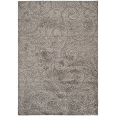 Florida Shag Grey and Beige Rectangle: 8 Ft. 6 In. x 12 Ft. In. Area Rug