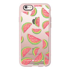 Summer hand painted pink green watercolor watermelons fruits and... ($40) ❤ liked on Polyvore featuring accessories, tech accessories, phone cases, case, iphone, iphone case, iphone cover case, green iphone case, pink iphone case and apple iphone cases