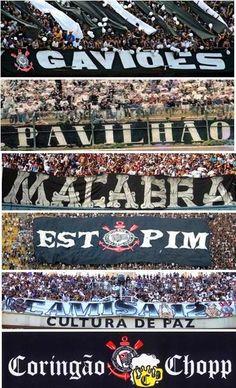 Gaviões da Fiel, Pavilhão 9, Fiel Macabra, Estopim da Fiel, Camisa 12 e Coringão Chopp. #Corinthians