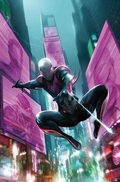 #Spiderman #2099 #Fan #Art. (Spider-Man 2099 #23 Cover) By: Francesco Mattina. ÅWESOMENESS!!!™ ÅÅÅ+