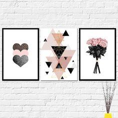 Pinterest Room Decor, Glamour Decor, Rose Gold Wallpaper, Teen Room Decor, Decoration Design, Home Decor Wall Art, Geometric Art, Art Pictures, Diy Art