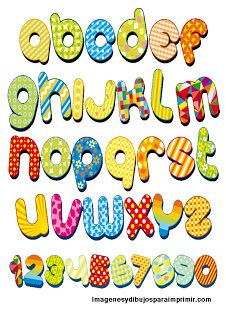 Freebies Bright Alphabet Free for Personal Use Alphabet For Kids, Alphabet And Numbers, Alphabet Fonts, Alphabet Letters, Alphabet Style, Applique Letters, Free Printable Clip Art, Free Printables, How To Make Signs
