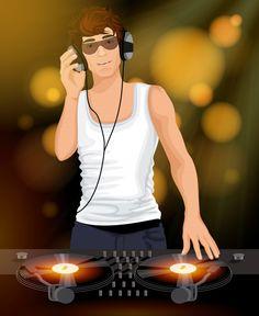 Dj masculino con carácter de auriculares... | Free Vector #Freepik #freevector #musica #fiesta #diseno #papel Karaoke Party, Dj Party, Disco Party, Music Party, Dj Music, Music Icon, Listening To Music, Music On Festival, Festival Posters
