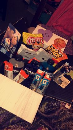 Basketball Care Package For Your Boyfriend Diy Valentines Gift Baskets Him