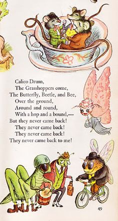 """The Tall Book of Make Believe"" Pictures by Garth Williams (1950)  (I also love mice in teacups!)"