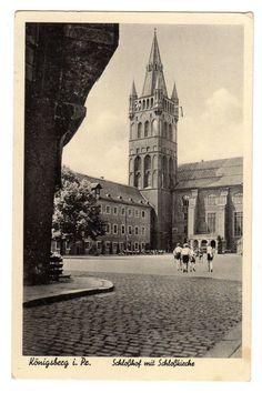 AK Ostpreußen Königsberg Schloßhof m. Schloßkirche 1936 nicht gelaufen