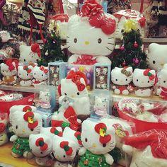 "23 Likes, 2 Comments - Sanrio Ontario (Cal)  (@sanrioontario) on Instagram: ""It's a #hellokitty #Christmas! #Sanrio #plushies #santahats #christmasornaments #cute #socute…"""