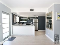 Renovation of a apartment located in the Art Deco distinctive district of Miami Beach. Kitchen area.
