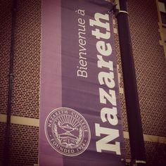 New banners around campus. #nazgram #nazarethcollege