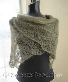 2 ball knitting pattern for samantha featherweight lace shawl…