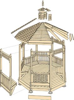 gazebo plan - build a garden gazebo