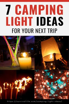 If you're going on a camping trip, one of the most important things to bring is your camping light. While flashlights do just fine, there are other, more creative camping light ideas you can try for your next trip. #campinglight #camping #campingtip #survivaltip #survival #preparedness #survivallife Camping Lunches, Camping Recipes, Camping Hacks, Survival Life, Survival Skills, Outdoor Shelters, Camping Lights, Camper Ideas, Rv Parks