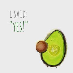 Avocado #illustration #food #handdrawn #cute #proposal