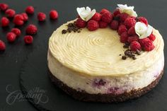 Brownie Raspberry Cheesecake :: Home Cooking Adventure