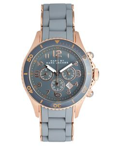 Marc By Marc Jacobs | Marc By Marc Jacobs Grey And Rose Gold Chronograph Bracelet Watch at ASOS
