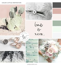 Soft rosy pinks and greens Introducing Ingrid portfolio and eCommerce Genesis Child Theme - Moodboard Lovely Confetti Web Design, Blog Design, Collages, Fashion Themes, Website Themes, Patterns In Nature, Color Themes, Branding Design, Branding Ideas
