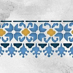 Moroccan Stencils Fez Floral Border Stencil