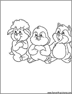 Care Bears Cousins Coloring Pages 1st Grades Colouring Printable Books Sheets