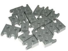 LEGO 20 Dark Bluish Gray Technic Bricks Modified 2 x 2 Ball Receptacle 70165 #LEGO