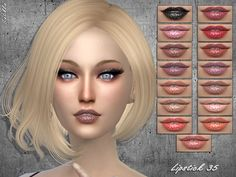 The Sims Resource: Lipstick 253 by Sintiklia • Sims 4 Downloads