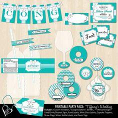 Tiffany's Wedding Printable Bundle Package by SweetDreamsOfArt, $35.50