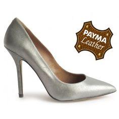 Stiletto piel plomo 49,90€  www.calzadospayma.com