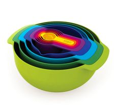 These nesting prep bowls ($50). | 34 Wonderful Products For People Who Hate Clutter
