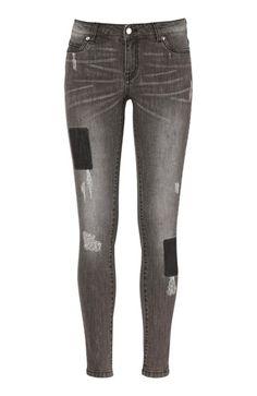 Super cool TrulyMine Jeans Sort denim TrulyMine Underdele til Outlet til hverdag og fest
