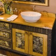 Log Bathroom Vanities